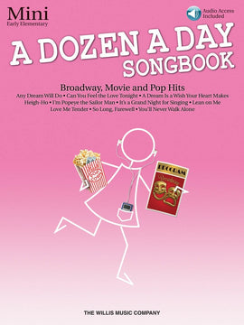 A DOZEN A DAY SONGBOOK - MINI BK/CD