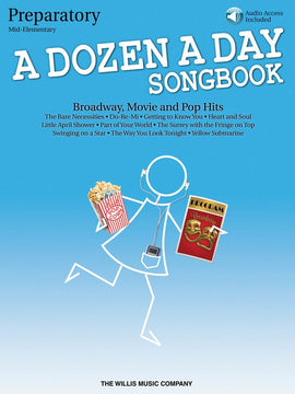 A DOZEN A DAY SONGBOOK - PREPARATORY BK/CD