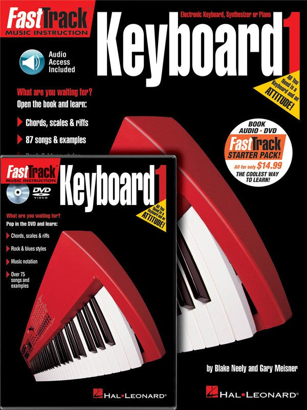 FASTTRACK KEYBOARD STARTER PACK BK/OLA/DVD (O/P)