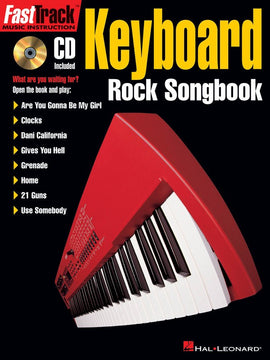 FASTTRACK KEYBOARD ROCK SONGBOOK BK/CD