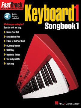 FASTTRACK KEYBOARD SONGBOOK 1 LEVEL 1 BK/CD