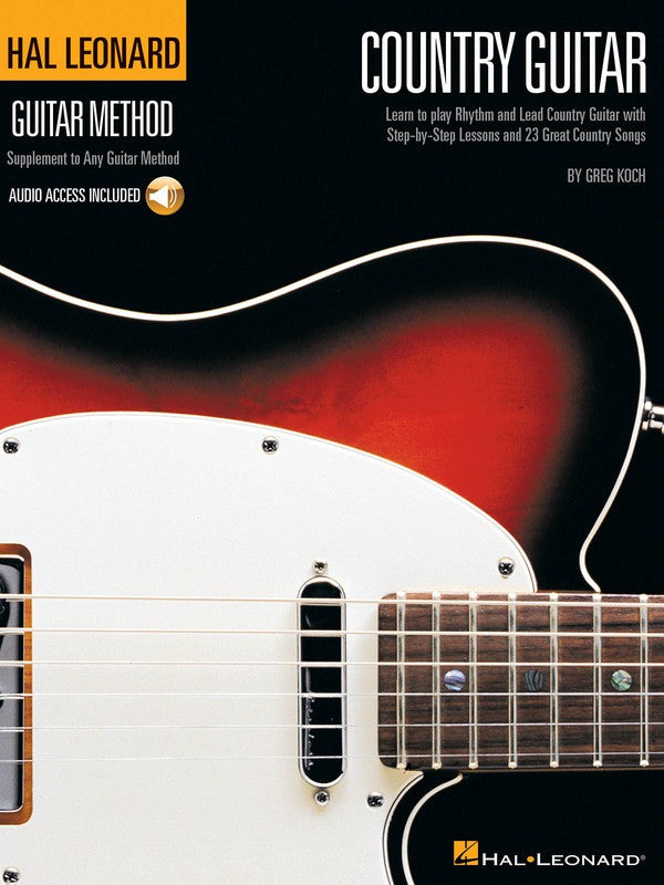 HL COUNTRY GUITAR METHOD BK/CD