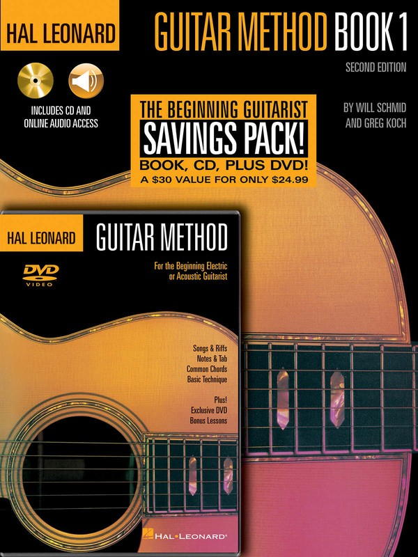 HL GUITAR METHOD BEGINNER PACK BK1 CD DVD