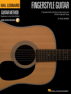 HL GUITAR METHOD FINGERSTYLE GUITAR BK/OLA