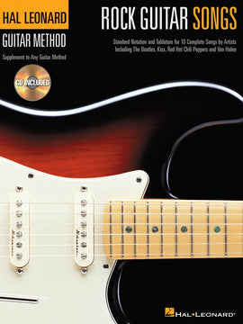 HL GUITAR METHOD ROCK GUITAR SONGS BK/CD GTR