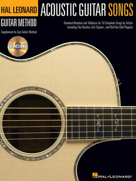 HL GUITAR METHOD ACOUSTIC SONGS BK/CD