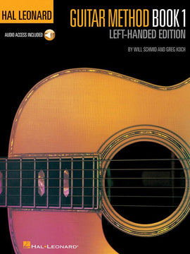 HL LEFT HANDED GUITAR METHOD BK 1 BK/OLA