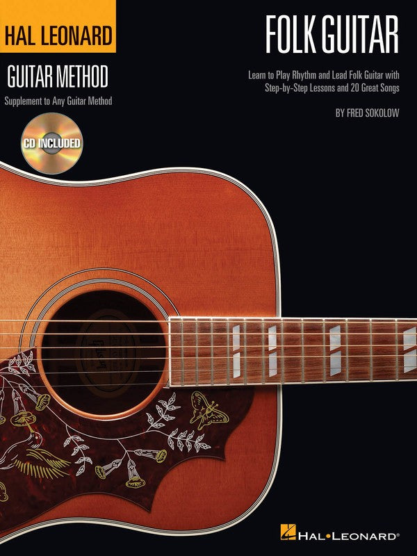 HL FOLK GUITAR METHOD BK/CD