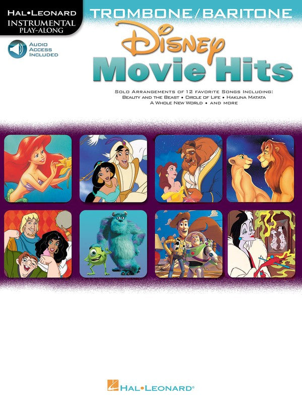 DISNEY MOVIE HITS FOR TROMBONE/BARITONE BK/OLA