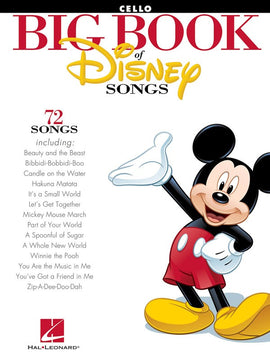 BIG BOOK OF DISNEY SONGS CELLO
