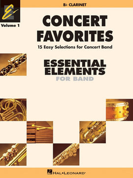 CONCERT FAVORITES EE V1 CLARINET B FLAT