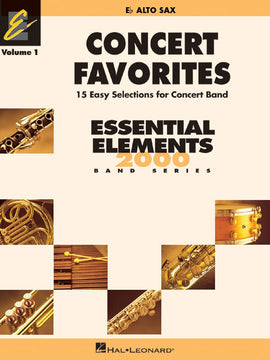 CONCERT FAVORITES EE V1 ALTO SAX