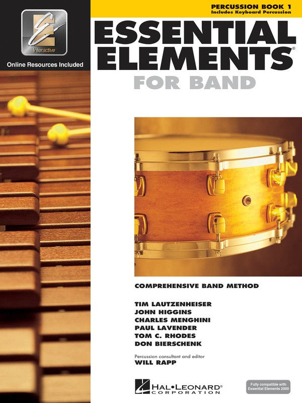 ESSENTIAL ELEMENTS FOR BAND BK1 PERCUSSION EEI