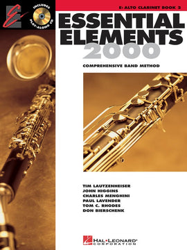 ESSENTIAL ELEMENTS 2000 BK2 ALTO CLARINET BK/CD EE