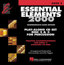 ESSENTIAL ELEMENTS 2000 BK2 PERC 2CD SET EE