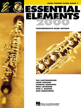 ESSENTIAL ELEMENTS 2000 BK1 OBOE THUMB/PLT BK/CD EE