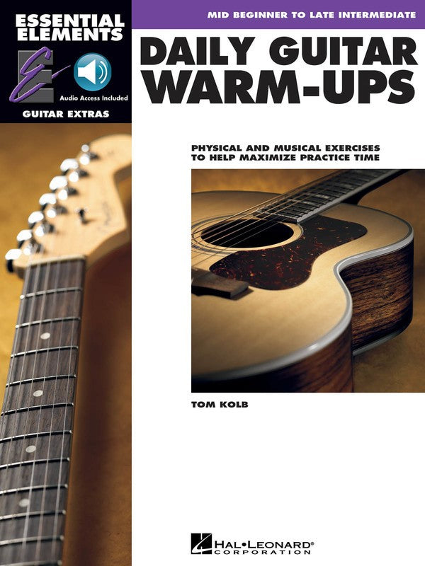 ESSENTIAL ELEMENTS FOR GUITAR DAILY WARM UPS BK/OLA EE