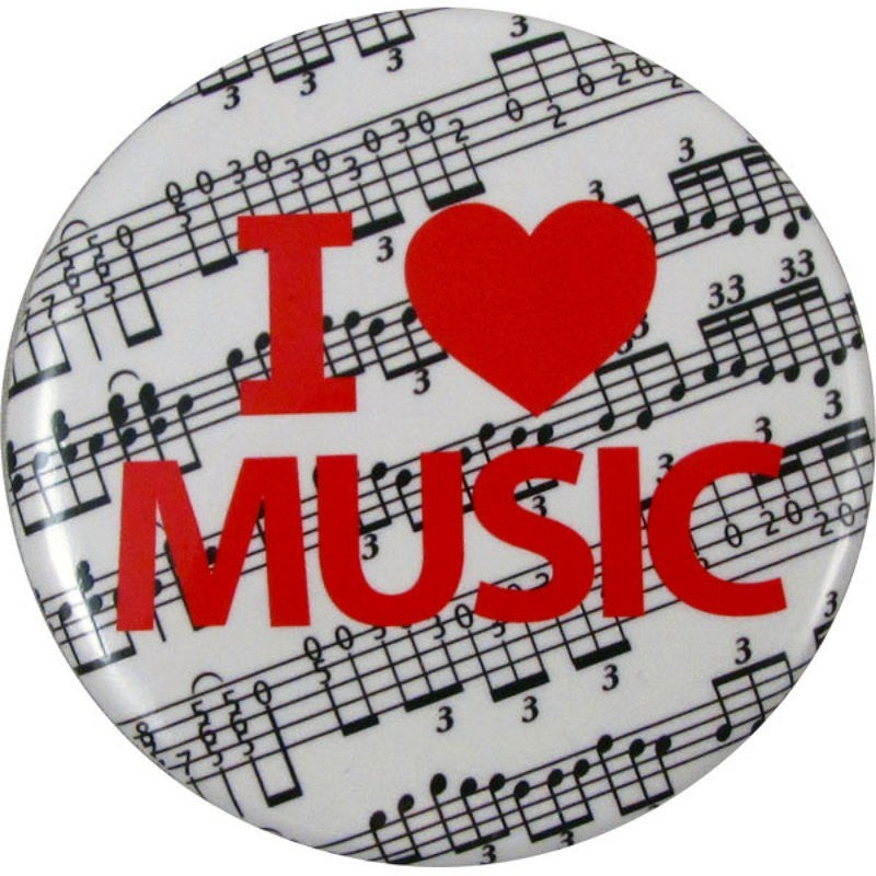 Button I Love Music