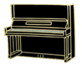 Mini Pin Upright Piano Black