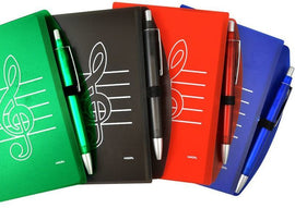 Treble Clef Notepad & Pen - Red