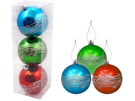 Set of 3 Baubles with Silver Notes