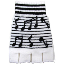 Fingerless Gloves With Music Notes