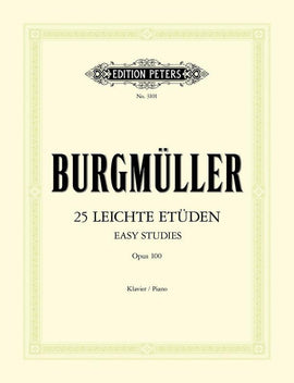 BURGMULLER - 25 EASY & PROGRESSIVE STUDIES OP 100