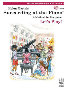 SUCCEEDING AT THE PIANO GR 5 LESSON & TECH BK/CD