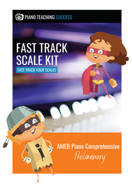 FAST TRACK SCALE KIT - AMEB PIANO (COMPREHENSIVE) PRELIMINARY