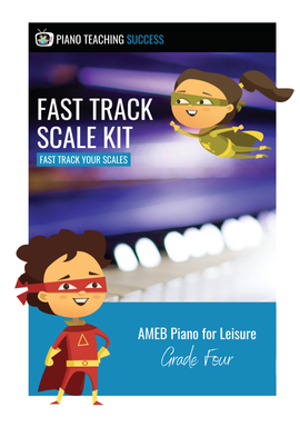 FAST TRACK SCALE KIT - AMEB PIANO FOR LEISURE GRADE 4