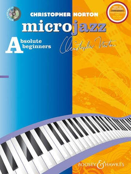 CHRISTOPHER NORTON MICROJAZZ FOR ABSOLUTE BEGINNERS A PIANO BK/CD