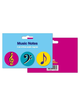 Music Notes Acrylic Magnets Set of 3