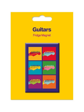 Guitar Theme Fridge Magnet Pop Art Style