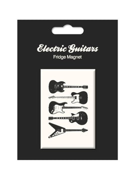 Electric Guitars Vintage Fridge Magnet