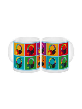 Pop Art Headphones Mug