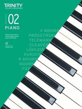 TRINITY COLLEGE PIANO PIECES & EXERCISES GR 2 2018-2020 BK/CD