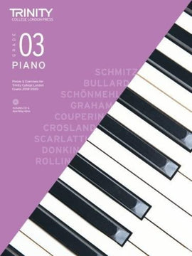 TRINITY COLLEGE PIANO PIECES & EXERCISES GR 3 2018-2020 BK/CD