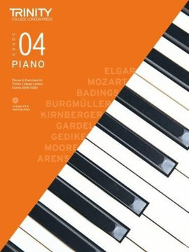 TRINITY COLLEGE PIANO PIECES & EXERCISES GR 4 2018-2020 BK/CD