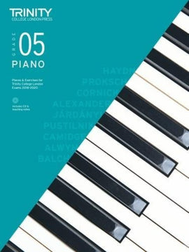 TRINITY COLLEGE PIANO PIECES & EXERCISES GR 5 2018-2020 BK/CD
