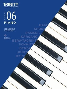 TRINITY COLLEGE PIANO PIECES & EXERCISES GR 6 2018-2020 BK/CD