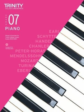 TRINITY COLLEGE PIANO PIECES & EXERCISES GR 7 2018-2020 BK/CD