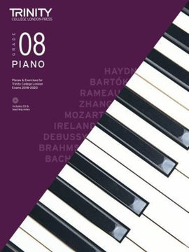 TRINITY COLLEGE PIANO PIECES & EXERCISES GR 8 2018-2020 BK/CD