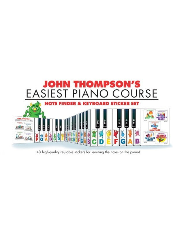 EASIEST PIANO COURSE NOTE FINDER & KEYBOARD STICKER SET