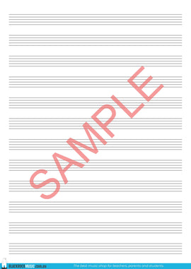 12-Stave Manuscript Free Digital Download