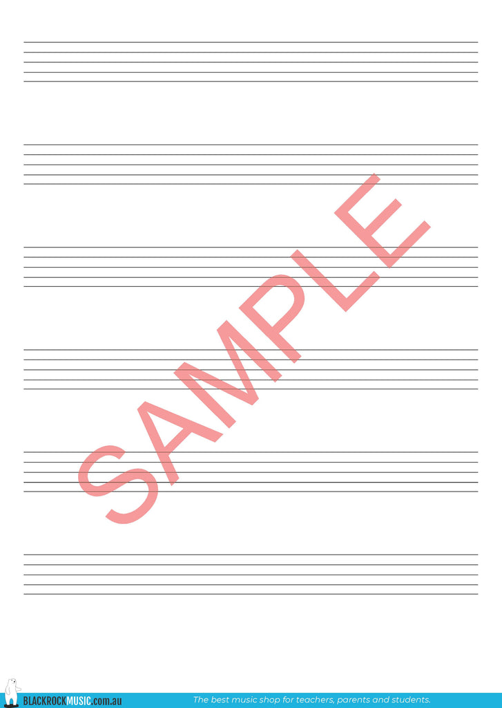 6-Stave Manuscript Free Digital Download