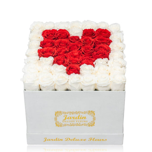 42-49 Red Heart Inside White Box