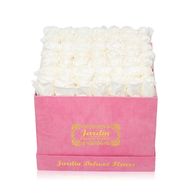 42 Pink Long Lasting Roses in Pink Box
