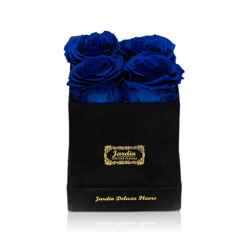 4 Eternity Roses in Black Box