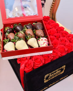 Romantic Package with Chocolate Covered Strawberries