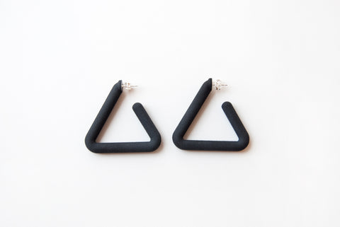 Black Triangle Hoop